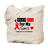 I Wear Red Son Tote Bag