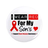 "I Wear Red Son 3.5"" Button"