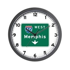 Memphis, TN Highway Sign Wall Clock