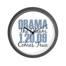 Obama The Dream Comes True Wall Clock