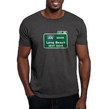 Long Beach, CA Highway Sign T-Shirt