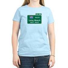 Long Beach, CA Highway Sign T-Shirt