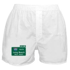 Long Beach, CA Highway Sign Boxer Shorts