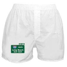 Long Beach, CA Highway Sign Boxer Shorts