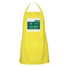 Long Beach, CA Highway Sign BBQ Apron