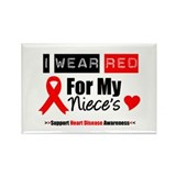I Wear Red Niece Rectangle Magnet (10 pack)