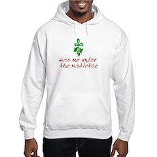 Kiss me under the mistletoe Hooded Sweatshirt
