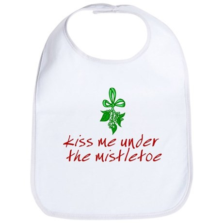 Kiss me under the mistletoe Bib