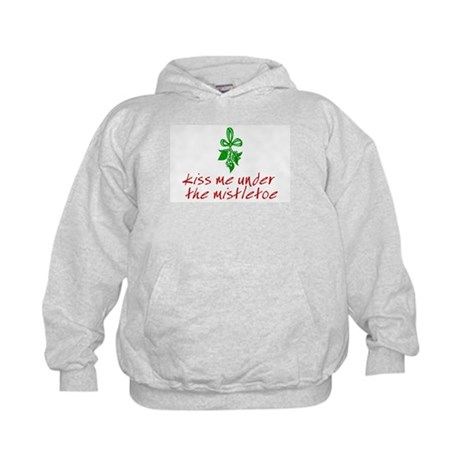 Kiss me under the mistletoe Kids Hoodie