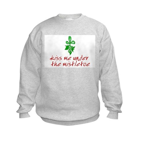 Kiss me under the mistletoe Kids Sweatshirt