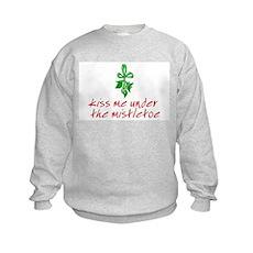 Kiss me under the mistletoe Kids Sweatshirt