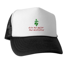 Kiss me under the mistletoe Trucker Hat