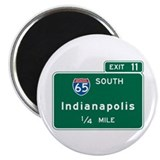 Indianapolis, IN Highway Sign Magnet