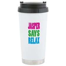 Jasper Says Relax (Color) Ceramic Travel Mug