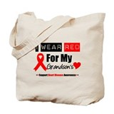 I Wear Red Grandson Tote Bag