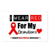 I Wear Red Grandson Postcards (Package of 8)