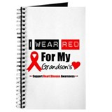 I Wear Red Grandson Journal