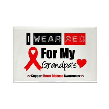 I Wear Red Grandpa Rectangle Magnet