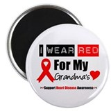 "I Wear Red Grandma 2.25"" Magnet (10 pack)"