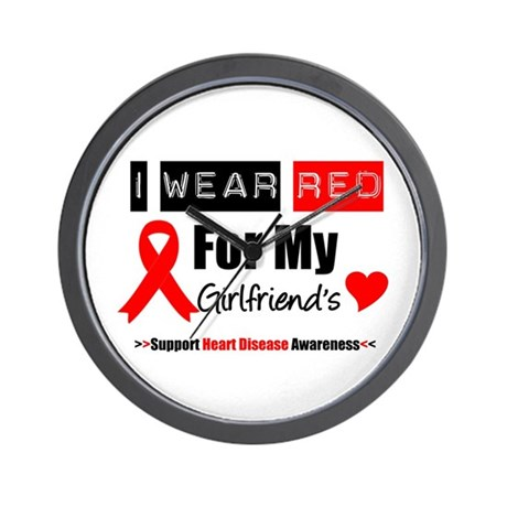 I Wear Red Girlfriend Wall Clock