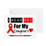 I Wear Red Daughter Greeting Cards (Pk of 10)