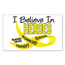 I Believe BLADDER CANCER Rectangle Decal