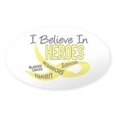 I Believe BLADDER CANCER Oval Sticker (50 pk)
