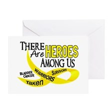 Heroes Among Us BLADDER CANCER Greeting Card