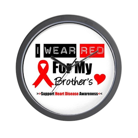 I Wear Red Brother Wall Clock