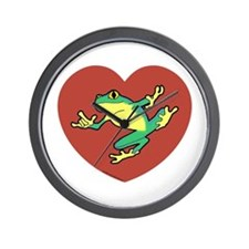 ASL Frog in Heart Wall Clock