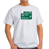 Detroit, MI Highway Sign T-Shirt