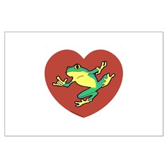 ASL Frog in Heart Posters