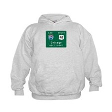 Chicago, IL Highway Sign Hoodie