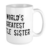Worlds Greatest Little Sister Mug