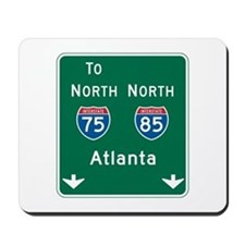 Atlanta, GA Highway Sign Mousepad