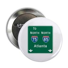 "Atlanta, GA Highway Sign 2.25"" Button (10 pack)"