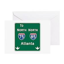 Atlanta, GA Highway Sign Greeting Cards (Pk of 10)