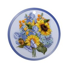 Summer Bouquet Ornament (Round)