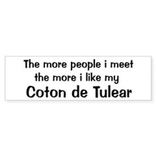 I like my Coton de Tulear Bumper Car Sticker