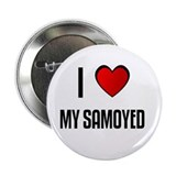 "I LOVE MY SAMOYED 2.25"" Button (100 pack)"