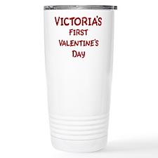 Victorias First Valentines Da Ceramic Travel Mug