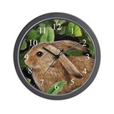 Brown Bunny Wall Clock