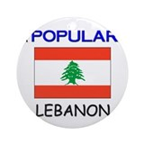 I'm Popular In LEBANON Ornament (Round)