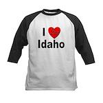 I Love Idaho Kids Baseball Jersey