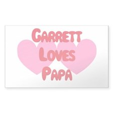 Garrett Loves Papa Rectangle Decal