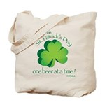 Go Green... One Beer at a Tim Tote Bag