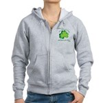Go Green... One Beer at a Tim Women's Zip Hoodie