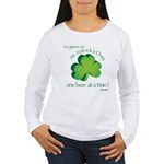 Go Green... One Beer at a Tim Women's Long Sleeve