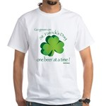 Go Green... One Beer at a Tim White T-Shirt