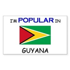 I'm Popular In GUYANA Rectangle Decal